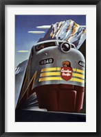 Framed Canadian Pacific Train