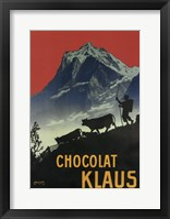 Framed Chocolat Klaus Mountains Switzerland, 1910