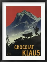 Framed Chocolat Klaus Mountains Switzerland, 1910