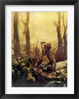 Framed Mural Forest Marines