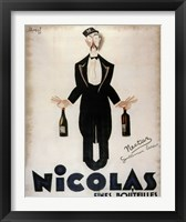 Framed Nicolas Fines Bouteilles