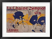 Framed La Chaine Simpson