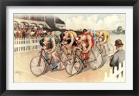 Framed Bicycle Race Scene, 1895