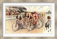 Framed Bicycle Race Scene, 1895