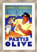 Framed Pastis Olive