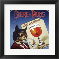 Framed Biere de Paris