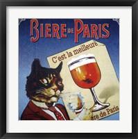 Framed Biere de Paris