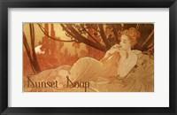 Framed Sunset Soap