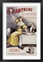 Framed Champagne Scohyers