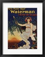 Framed Waterman Pen
