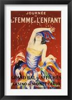 Framed La Femme et L'enfant