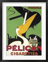 Framed Pelican Cigarettes
