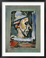 Framed Profile Of A Clown