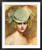 Framed Lady In Green Hat