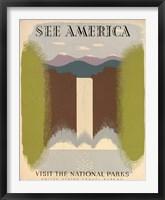 WPA See America I Framed Print