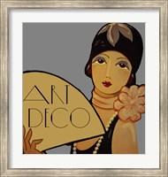 Framed Art Deco Flapper