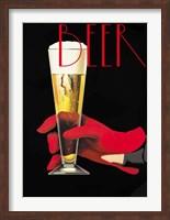 Framed Red Glove Beer