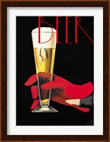 Framed Red Glove Beer