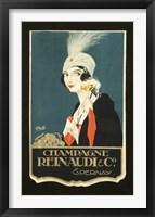 Framed Champagne Renaudi
