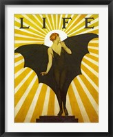 Framed Life Magazine Cover Bat Girl Yellow