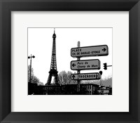 Framed Photograph of street signs in Paris