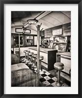 Framed Retro Diner