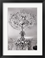 Framed Ornate Ceiling Engraving
