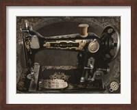 Framed Vintage Sewing Machine