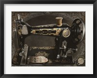 Framed Vintage Sewing Machine