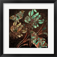 Framed Copper Butterflies