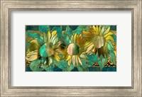 Framed Verdigris Sunflower
