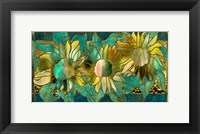 Framed Verdigris Sunflower
