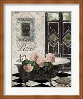 Framed Le Bain Hydrangea