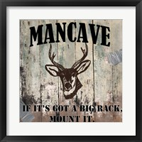 Mancave II Framed Print