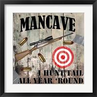 Mancave IV Framed Print