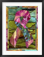 Framed Breast Cancer Ribbon