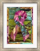 Framed Breast Cancer Ribbon