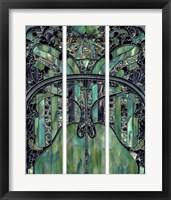 Framed Turquoise Window Jewels
