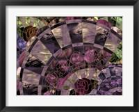 Framed Art Nouveau Fan