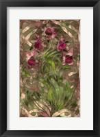 Framed Art Nouveau Pink Floral