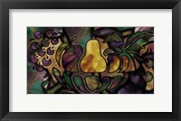 Framed Stained Glass Fruit
