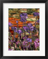 Framed Stained Glass Poppies