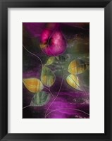 Framed Stained Glass Rose