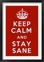 Keep Calm IV Framed Print