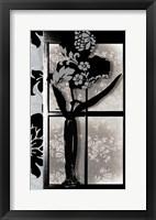 Framed Asian Iris in Window