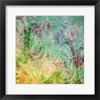 The Hat Pattern Colorized Redux I Framed Print