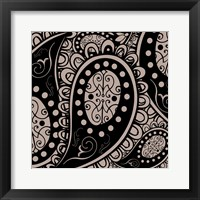 Paisley Party Beige Framed Print