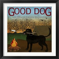 Framed Good Dog Wilderness Guide