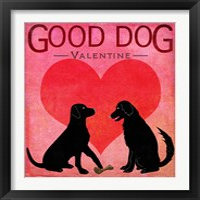 Framed Good Dog Valentine I