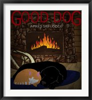 Framed Good Dog Apres Ski Lodge I